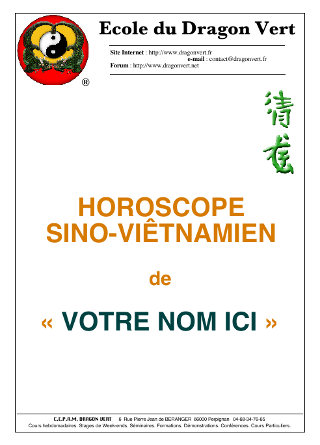 Horoscope chinois: couverture - image